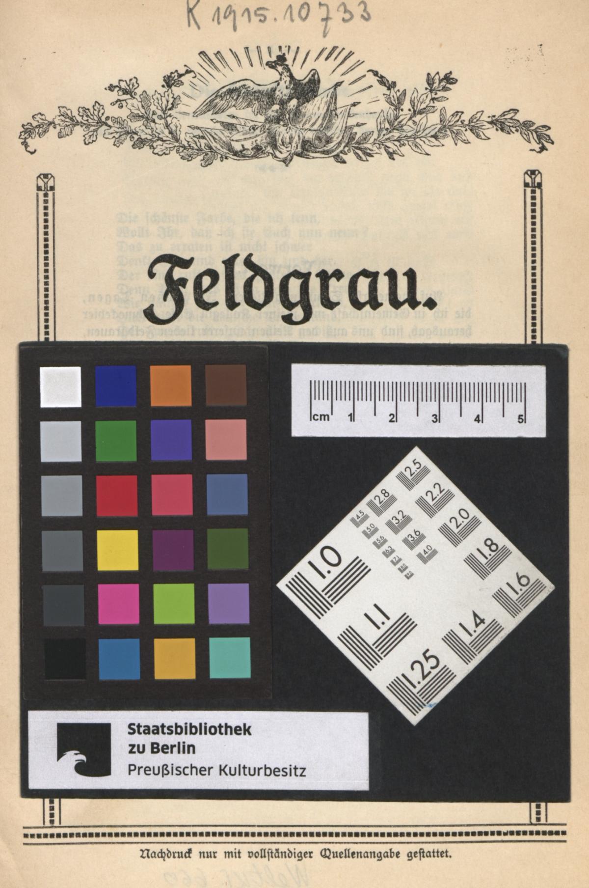 Europeana 1914 1918 feldgrau ernstes und heiteres in versen - Bereik kind boek ...