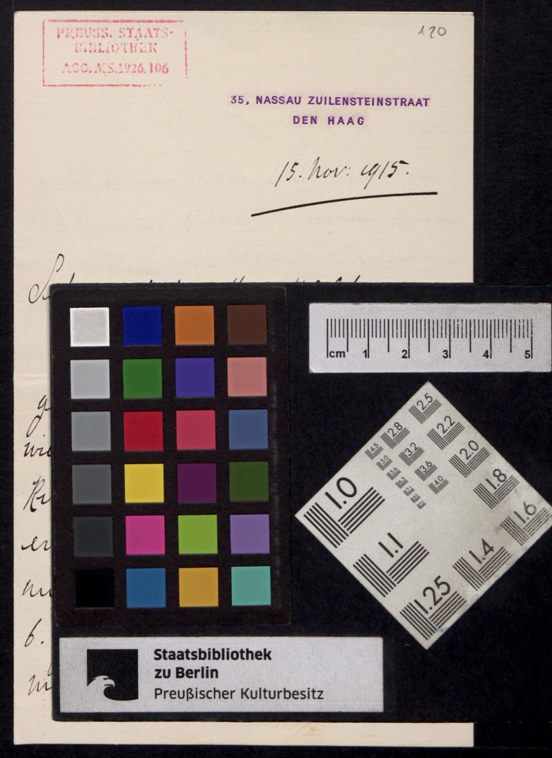 Blatt Farbkeil