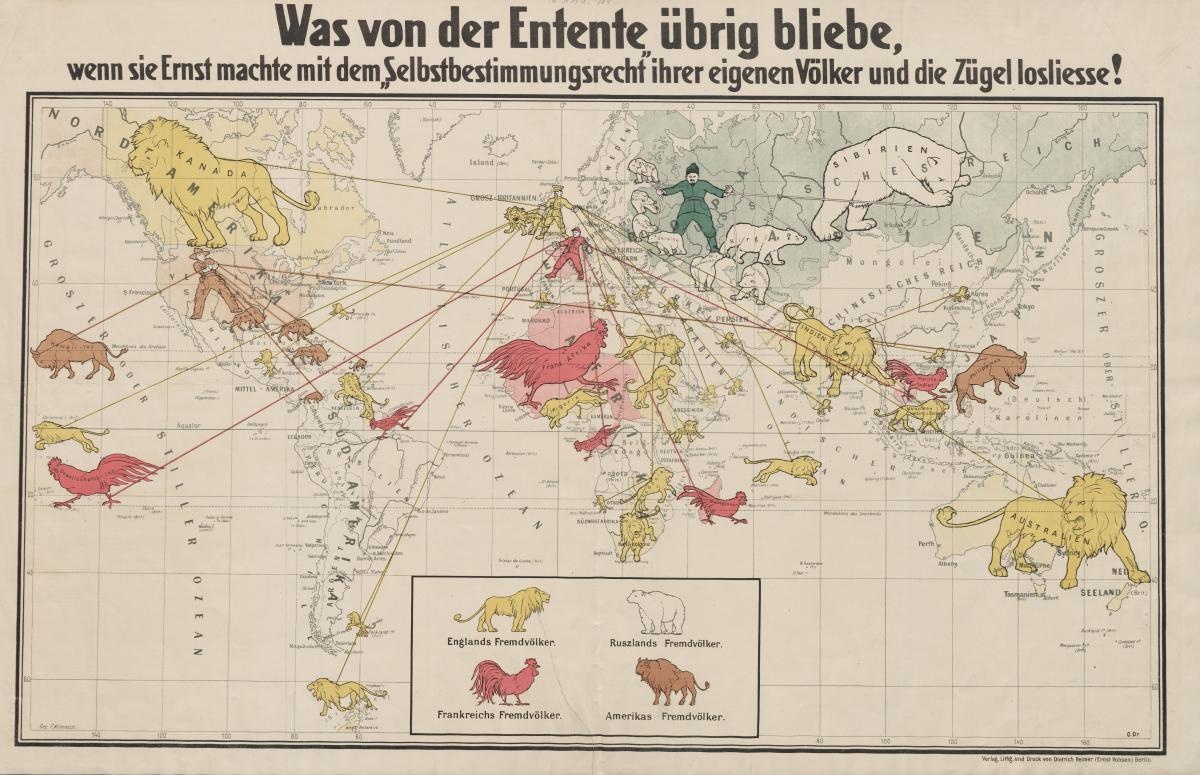 Немецкая карта 1917 года