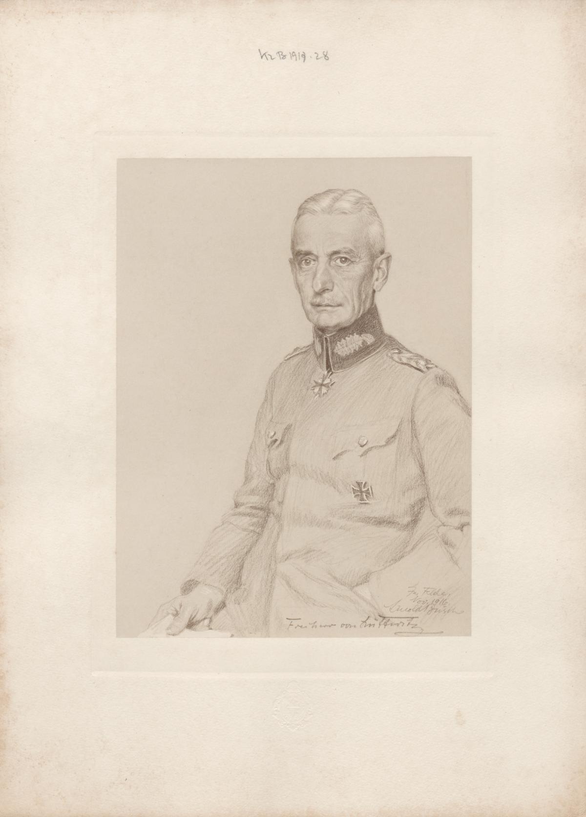 [Bildnis] Freiherr von Lüttwitz