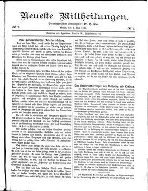 Neueste Mittheilungen vom 04.05.1882