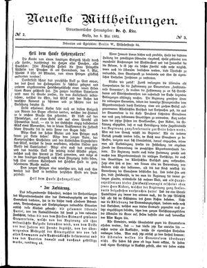 Neueste Mittheilungen on May 8, 1882