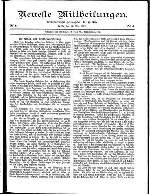 Neueste Mittheilungen vom 17.05.1882
