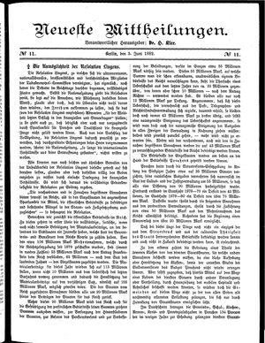 Neueste Mittheilungen vom 05.06.1882