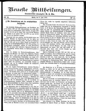 Neueste Mittheilungen vom 03.07.1882