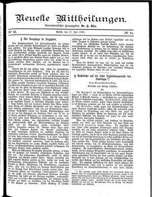Neueste Mittheilungen vom 18.07.1882