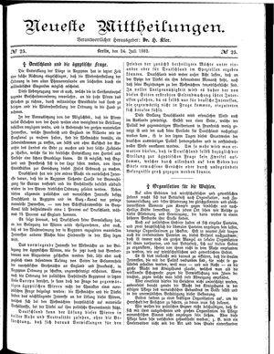 Neueste Mittheilungen vom 24.07.1882