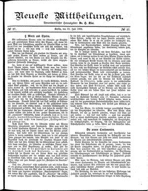 Neueste Mittheilungen vom 31.07.1882