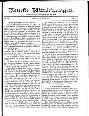 Neueste Mittheilungen on Aug 3, 1882