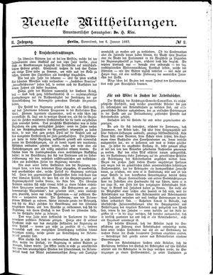 Neueste Mittheilungen vom 06.01.1883