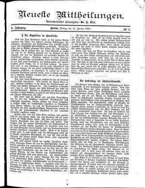 Neueste Mittheilungen on Jan 12, 1883