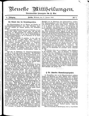 Neueste Mittheilungen vom 17.01.1883