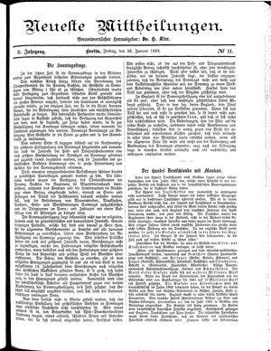 Neueste Mittheilungen vom 26.01.1883