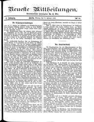 Neueste Mittheilungen (19.02.1883)