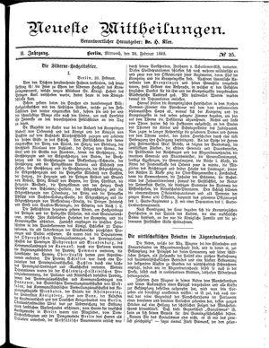 Neueste Mittheilungen vom 28.02.1883