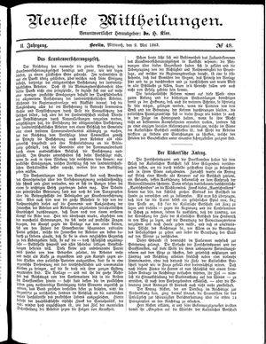 Neueste Mittheilungen on May 2, 1883