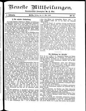 Neueste Mittheilungen vom 11.05.1883