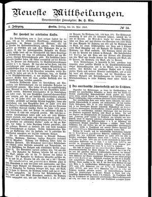 Neueste Mittheilungen vom 18.05.1883
