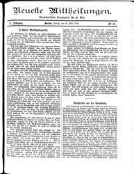 Neueste Mittheilungen (25.05.1883)