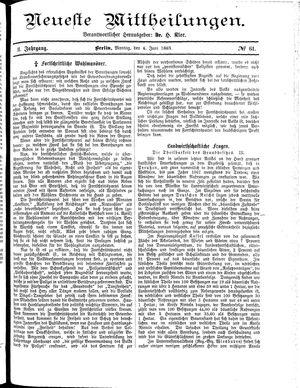 Neueste Mittheilungen on Jun 4, 1883