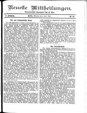 Neueste Mittheilungen vom 06.06.1883