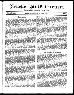 Neueste Mittheilungen vom 17.01.1884