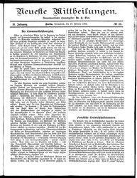 Neueste Mittheilungen (23.02.1884)