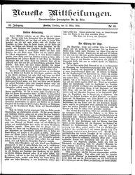 Neueste Mittheilungen (18.03.1884)