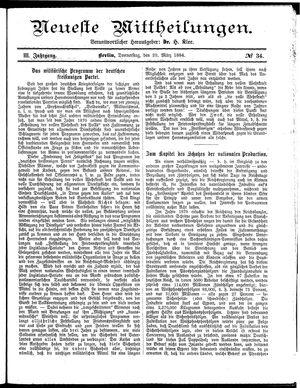 Neueste Mittheilungen vom 20.03.1884