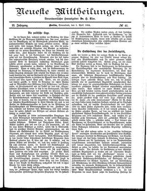 Neueste Mittheilungen on Apr 5, 1884
