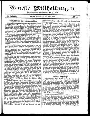Neueste Mittheilungen on Apr 16, 1884