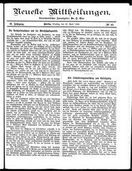 Neueste Mittheilungen (22.04.1884)
