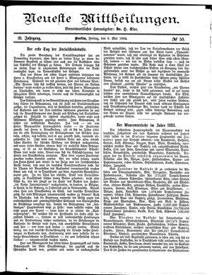 Neueste Mittheilungen vom 09.05.1884