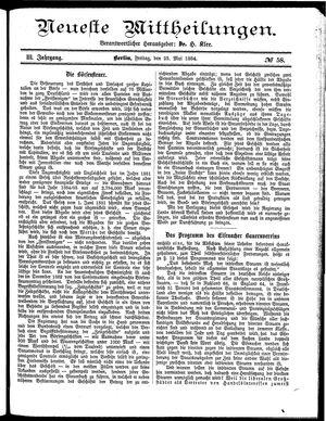 Neueste Mittheilungen vom 23.05.1884