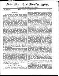 Neueste Mittheilungen (18.12.1884)