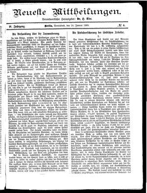 Neueste Mittheilungen on Jan 10, 1885