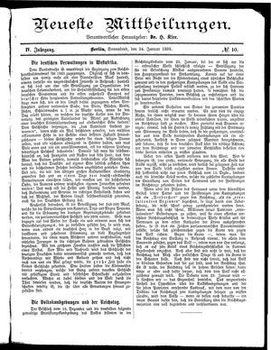 Neueste Mittheilungen vom 24.01.1885