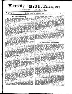 Neueste Mittheilungen vom 01.01.1886
