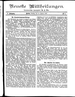 Neueste Mittheilungen vom 12.01.1886