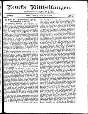 Neueste Mittheilungen vom 28.01.1886