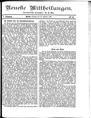 Neueste Mittheilungen vom 23.02.1886