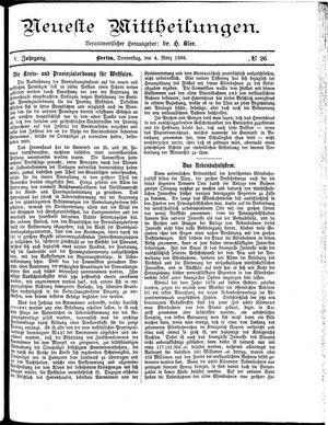 Neueste Mittheilungen on Mar 4, 1886