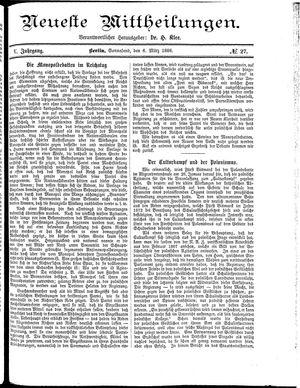 Neueste Mittheilungen on Mar 6, 1886