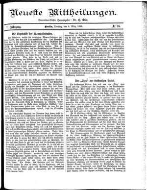 Neueste Mittheilungen vom 09.03.1886