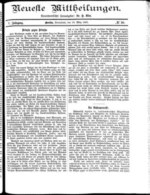 Neueste Mittheilungen vom 13.03.1886