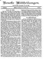 Neueste Mittheilungen (18.03.1886)