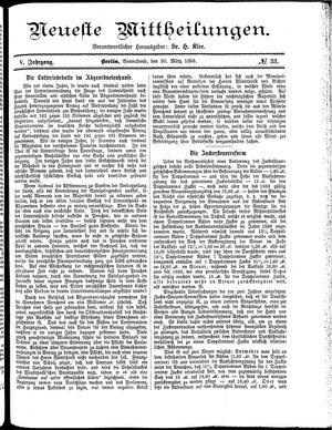 Neueste Mittheilungen vom 20.03.1886