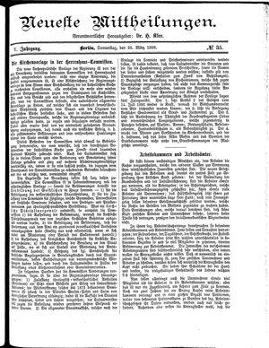 Neueste Mittheilungen on Mar 25, 1886
