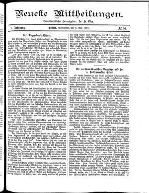 Neueste Mittheilungen vom 08.05.1886
