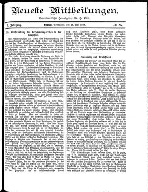 Neueste Mittheilungen vom 15.05.1886